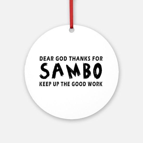 Sambo Martial Arts Designs Ornament (Round)