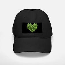Green Skull Heart Baseball Hat