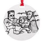 Funny Monsters Round Ornament