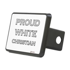Proud White Christian Hitch Cover