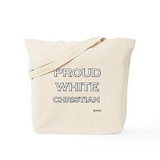 Proud White Christian Tote Bag