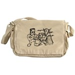 Funny Monsters Messenger Bag