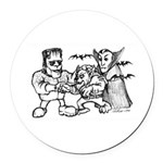 Funny Monsters Round Car Magnet