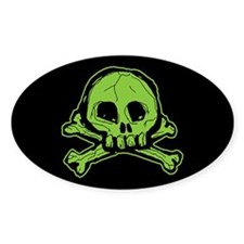 Scribbly Skull And Crossbones Decal
