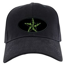 Green Skull Pattern Star Baseball Hat
