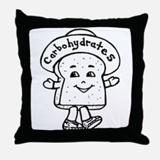 Happy Carb Throw Pillow