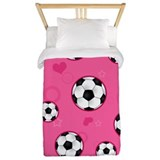 Girls soccer Luxe Twin Duvet Cover