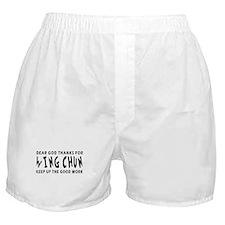 Wing Chun Martial Arts Designs Boxer Shorts