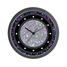 Wall Clock Mosaic Glitter 1