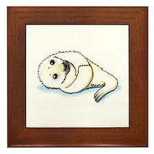 Seal Pup Framed Tile