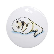 Seal Pup Ornament (Round)