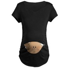 baby peeking AA Maternity T-Shirt