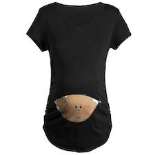 baby peeking AA Maternity T-Shirt