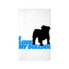 bulldog 3'x5' Area Rug