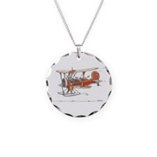 Waco Ski Plane Necklace