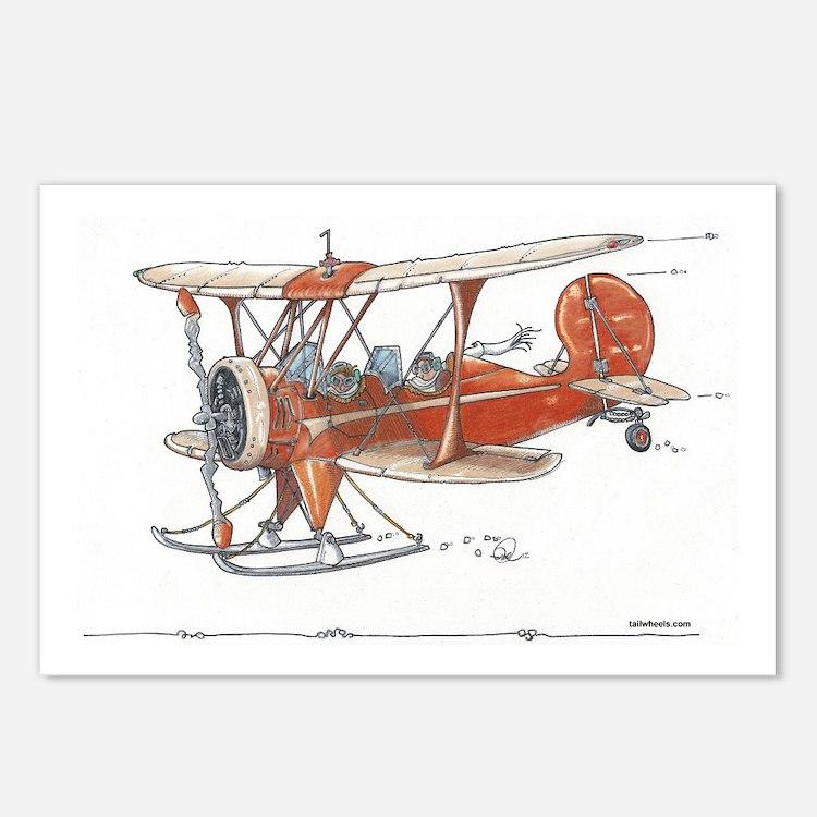 Waco Ski Plane Postcards (Package of 8)