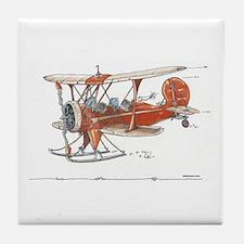 Waco Ski Plane Tile Coaster