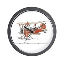 Waco Ski Plane Wall Clock