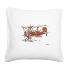 Waco Ski Plane Square Canvas Pillow