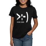 Online Devil Smiley Face Women's Dark T-Shirt