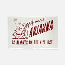 Nice List Arianna Christmas Rectangle Magnet