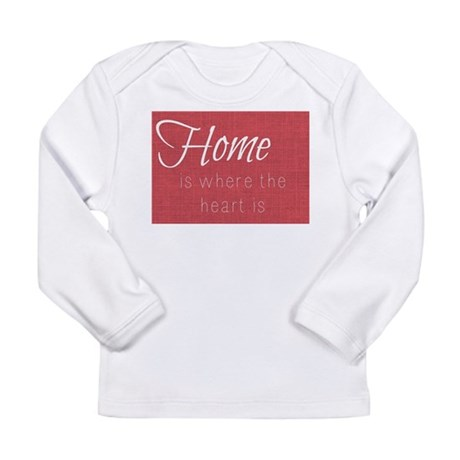 Home is Where the Heart Is (Re Long Sleeve T-Shirt