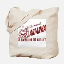 Nice List Arianna Christmas Tote Bag