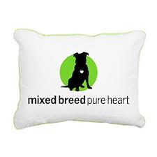 Mixed Breed Rectangular Canvas Pillow 1