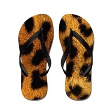 Animal Print Flip Flops in Cheetah Print