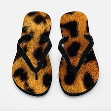 Animal Print Flip Flops in Cheetah Print