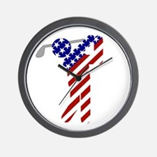USA Mens Golf Wall Clock