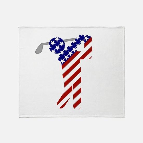 USA Mens Golf Throw Blanket