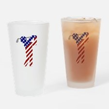 USA Mens Golf Drinking Glass