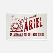 Nice List Ariel Christmas Rectangle Magnet