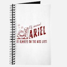 Nice List Ariel Christmas Journal
