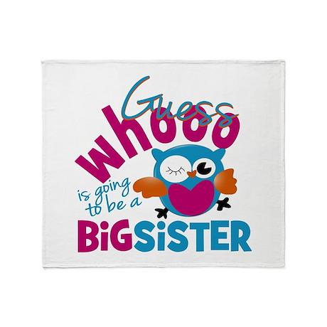 Big Sister - Owl Throw Blanket