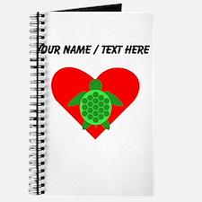 Custom Green Turtle Heart Journal