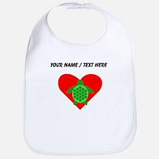 Custom Green Turtle Heart Bib