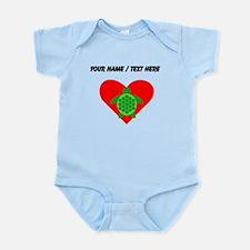 Custom Green Turtle Heart Body Suit
