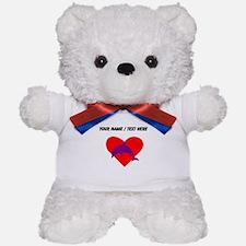 Custom Purple Dolphin Heart Teddy Bear