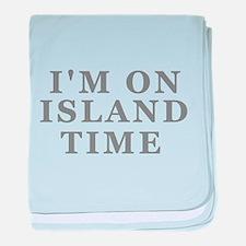 Im On Island Time baby blanket