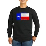 Texas Texan State Flag Long Sleeve Black T-Shirt