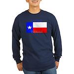 Texas Texan State Flag Long Sleeve Blue T-Shirt