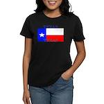 Texas Texan State Flag Women's Black T-Shirt
