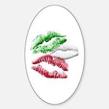 Italian Kiss Sticker (Oval)