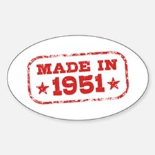 Made In 1951 Sticker (Oval)