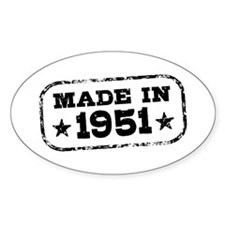 Made In 1951 Decal