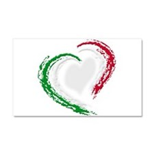 Italian Heart Car Magnet 20 x 12