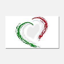 Italian Heart Car Magnet 20 x 12