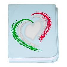 Italian Heart baby blanket